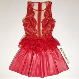 BCBG MaxAzria Layton dress in dark poppy